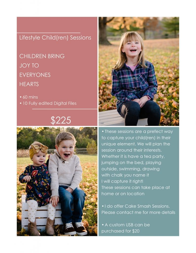 Lifestyle Children Sessions