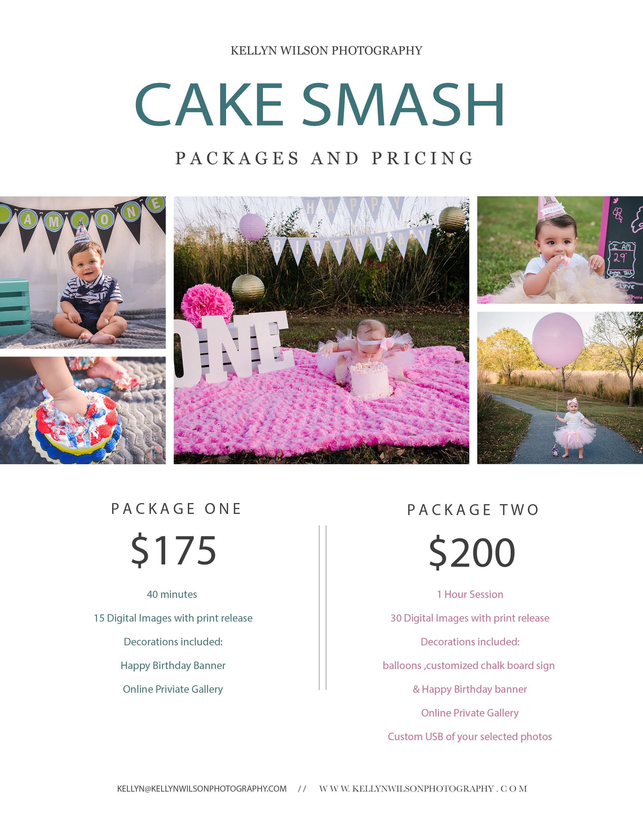 Celebrate your little one turning with a customized cake smash session!