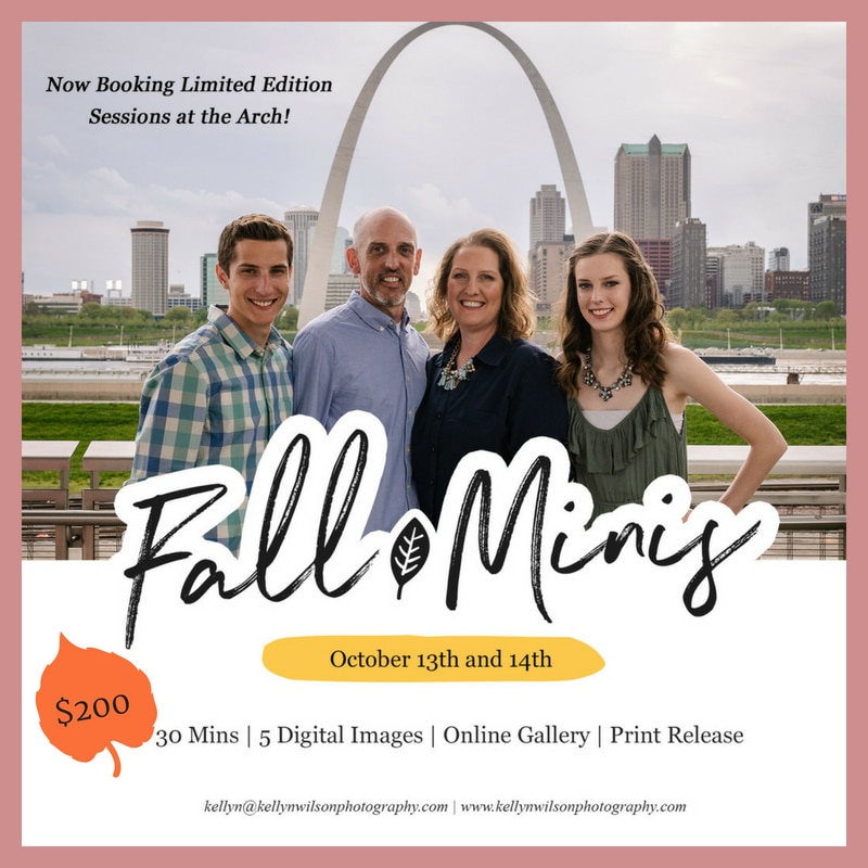 St. Louis Arch Fall Mini Sessions with Kellyn Wilson Photography