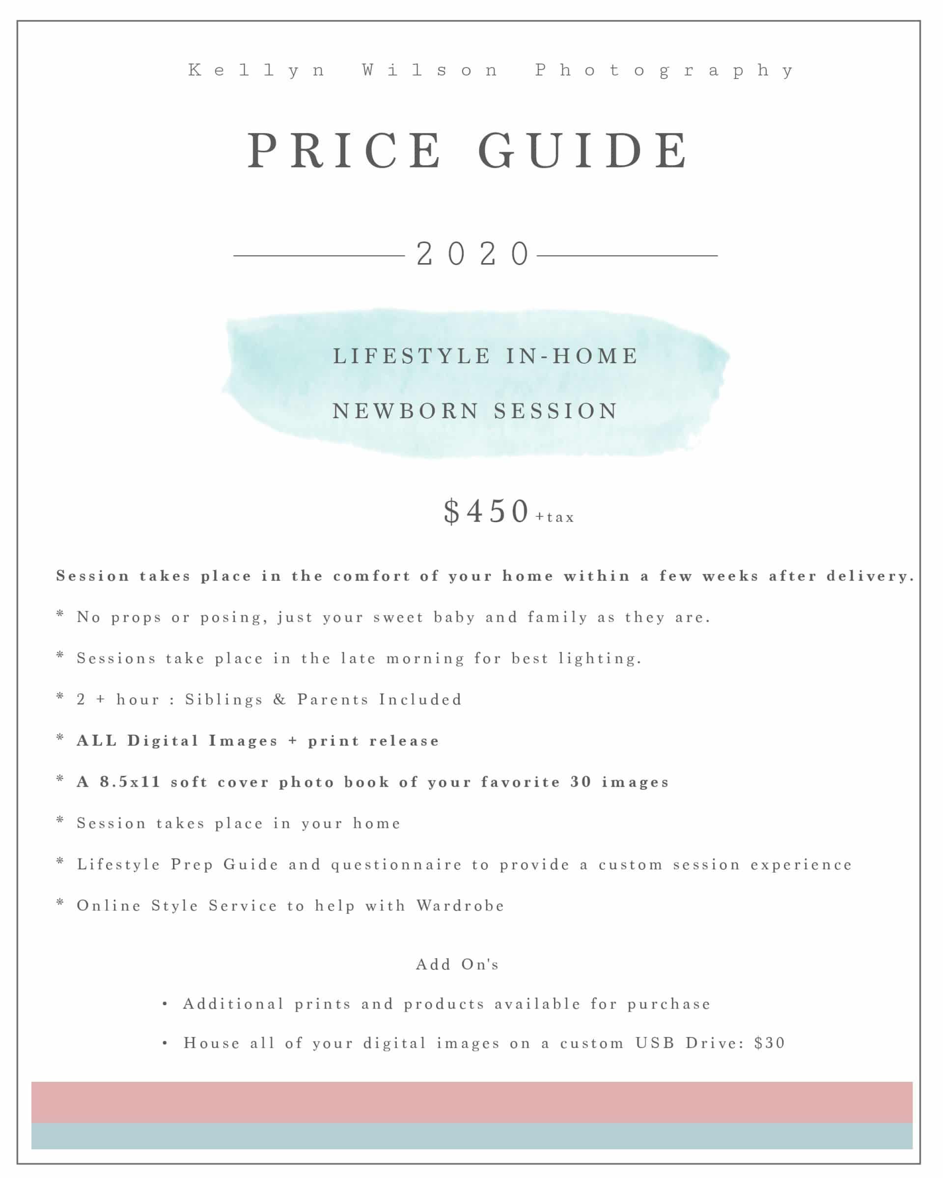 Kellyn Wilson Photography   Lifestyle Newborn Pricing